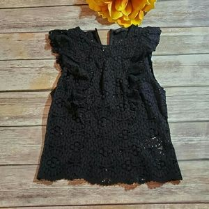 [Zara] Sleeveless Lace Blouse